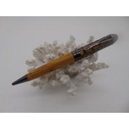 Filigree pen in Welsh Laburnum wood in a Gun metal plated finish