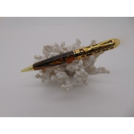 Filigree pen in Bronze acrylic with a gold plated finish