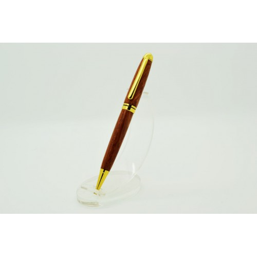European Style Pen In Bubinga Wood