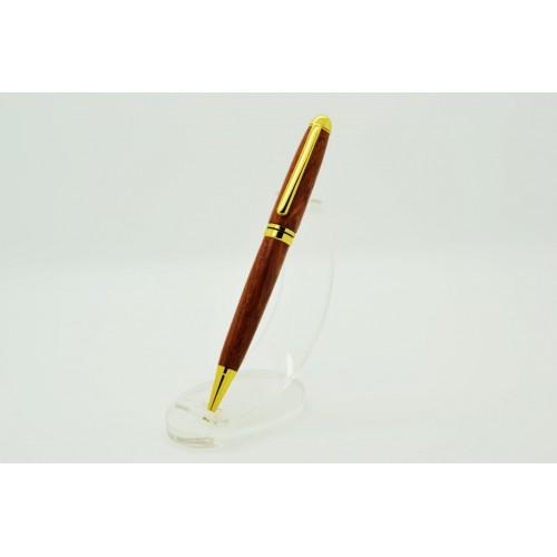European Style Pen In Bubinga Wood