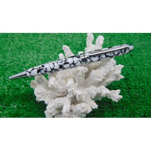 European style ballpoint pen in Dalmatian Acrylic