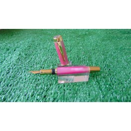 The Executive Fountain Pen In Acrylic Pink Passion Colour