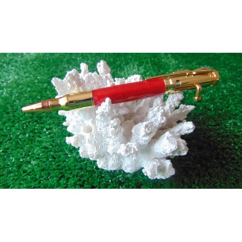 Bolt Action Crushed Red Acrylic Pen
