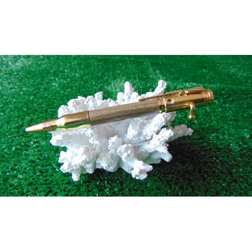 Bolt Action Style Pen In Chacate Preto Wood