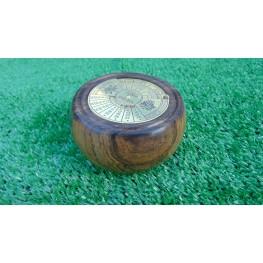 Perpetual calendar in Panga Panga wood
