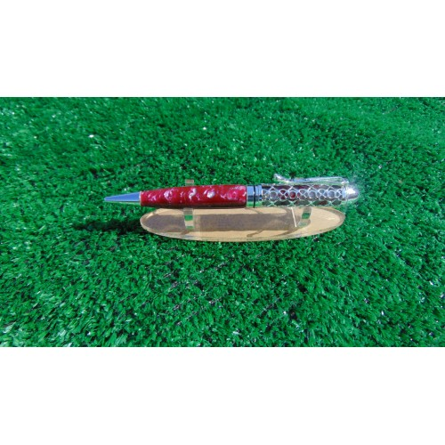 Handmade  Filigree pen in Brimstone acrylic