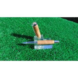 The Statesman Classic Rollerball Pen in Australian Red Resin Burr
