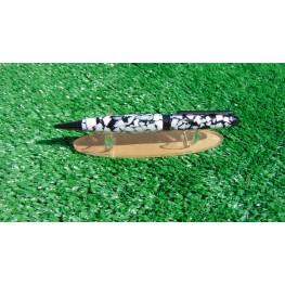 European style pen in a Dalmatian acrylic