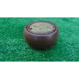 Handmade Perpetual calendar in African Panga Panga wood