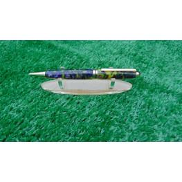 Handmade European style pen in a Banana Grape acrylic
