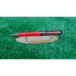 Handmade Filigree style ballpoint pen in a Red swirl acrylic
