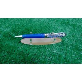 Handmade Filigree style ballpoint pen in a Blue swirl acrylic