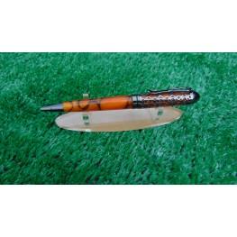 Handmade Filigree style ballpoint pen in a Burnt Orange acrylic