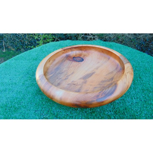 Handmade Curved rim Yew bowl made from local yew wood