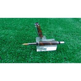 Handmade Classic Fountain pen in a Midnight racer acrylic